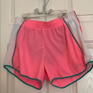Nike dry fit  bright pink athletic shorts